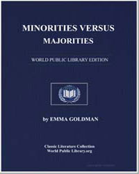 Minorities Versus Majorities by Goldman, Emma