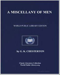 A Miscellany of Men by Chesterton, Gilbert Keith