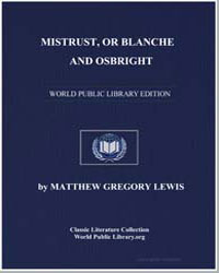 Mistrust, Or Blanche and Osbright by Lewis, Matthew Gregory