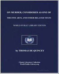 On Murder, Considered as One of the Fine... by De Quincey, Thomas