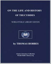 On the Life and History of Thucydides by Hobbes, Thomas