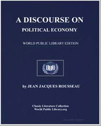 A Discourse on Political Economy by Rousseau, Jean Jacques