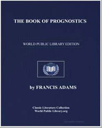 The Book of Prognostics by Adams, Francis