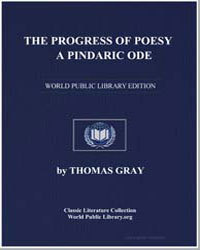 The Progress of Poesy. A Pindaric Ode by