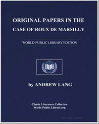 Original Papers in the Case of Roux de M... by Lang, Andrew, M. A.