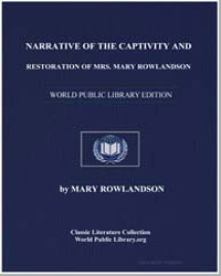 Narrative of the Captivity and Restorati... by Rowlandson, Mary