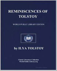 Reminiscences of Tolstoy by Tolstoy, Ilya