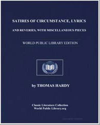 Satires of Circumstance, Lyrics and Reve... by Hardy, Thomas