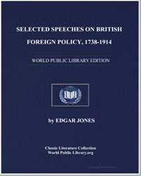 Selected Speeches on British Foreign Pol... by Jones, Edgar