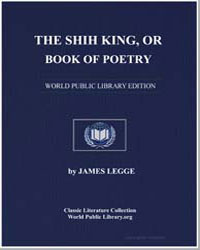 The Shih King, Or Book of Poetry by Legge, James