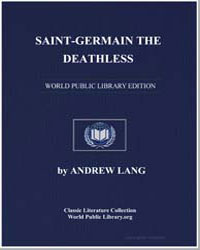 Saintgermain the Deathless by Lang, Andrew, M. A.