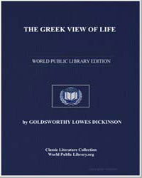 The Greek View of Life by Dickinson, Goldsworthy Lowes