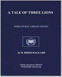 A Tale of Three Lions by Haggard, Henry Rider