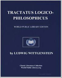 Tractatus Logicophilosophicus by Wittgenstein, Ludwig