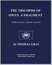 The Triumphs of Owen. A Fragment by Gray, Thomas
