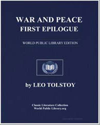 War and Peace, First Epilogue by Tolstoy, Leo Nikoleyevich