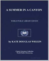 A Summer in a Canyon by Wiggin, Kate Douglas Smith