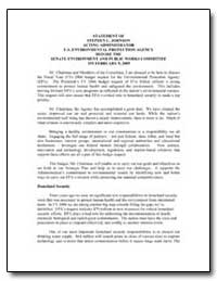 Statement of Stephen L. Johnson Acting A... by Environmental Protection Agency