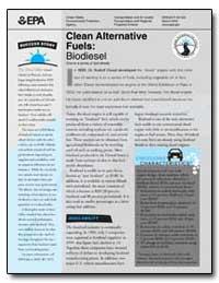 Clean Alternative Fuels : Biodiesel One ... by Diesel, Rudolf