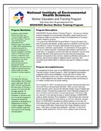 Worker Education and Training Program by Environmental Protection Agency