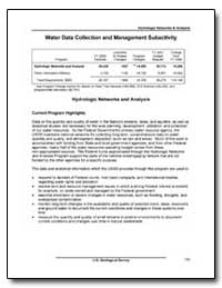 Water Data Collection and Management Sub... by Environmental Protection Agency