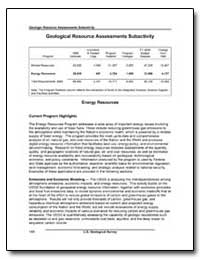 Geological Resource Assessments Subactiv... by Environmental Protection Agency