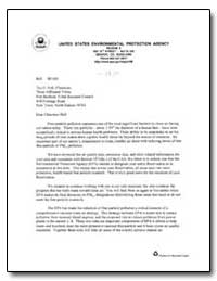 United States Environmental Protection A... by Roberts, Robert E.
