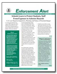 Enforcement Alert by Environmental Protection Agency