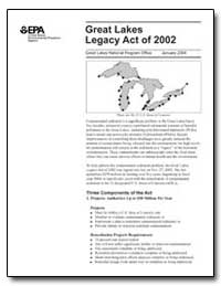 Great Lakes Legacy Act of 2002 Overview ... by Environmental Protection Agency