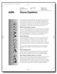 Ozone Depletion by Environmental Protection Agency