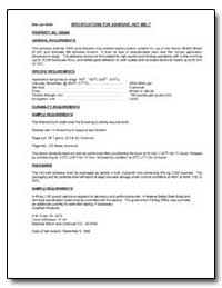 Specifications for Adhesive, Hot-Melt by