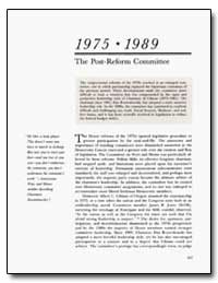 The Post-Reform Committee by Jones, James R.