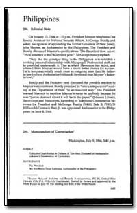 Philippines 294. Editorial Note by Rusk, Dean
