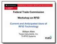 Federal Trade Commission Workshop on Rfi... by Allen, William