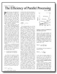 The Efficiency of Parallel Processing by Buzbee, B. L.