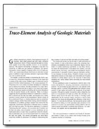 Trace-Element Analysis of Geologic Mater... by