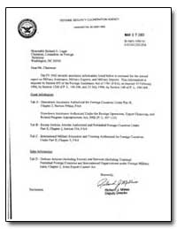 Dear Mr. Chairman : The Fy 2002 Security... by Millies, Richard J.