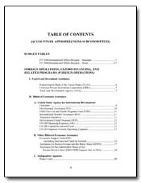 Table of Contents (Accounts by Appropria... by