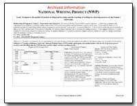 Archived Information National Writing Pr... by Department of Education