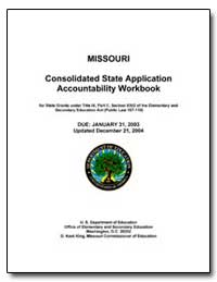 Missouri Consolidated State Application ... by Sims, Celia
