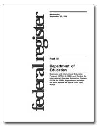 Department of Education [Cfda Nos. 84. 1... by Longanecker, David A.