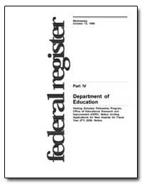 Department of Education [Cfda No. : 84. ... by Mcguire, C. Kent