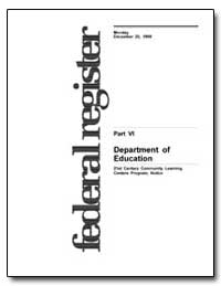 Department of Education [Cfeda No. 84. 2... by Cohen, Michael