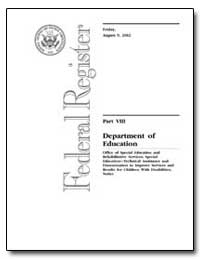 Federal Registry Part VIII Department of... by Chittum, Loretta Petty