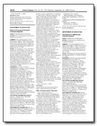 Department of Education Notice of Propos... by Budd, Sally