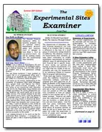 The Experimental Sites Examiner Front Pa... by Ford, Brian L.