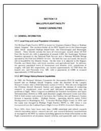 Section 1.0 Wallops Flight Facility Rang... by Federal Aviation Administration