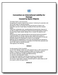 Convention on International Liability fo... by Federal Aviation Administration