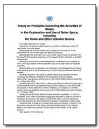 Treaty on Principles Governing the Activ... by Federal Aviation Administration