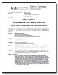 Nevadan Bruce James Brings Home Jobs Pub... by Meter, Veronica